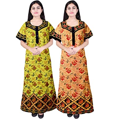 23b868329e Mudrika Women Cotton Nighty