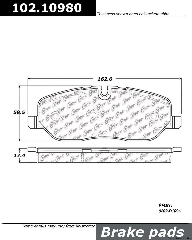 Centric Parts 102.04240 102 Series Semi Metallic Standard Brake Pad
