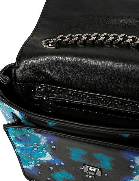 Desigual Bols_Waterfall Zurich - Bolso bandolera para mujer, 6,5 x 12 x 18,5 cm, color negro: Amazon.es: Zapatos y complementos