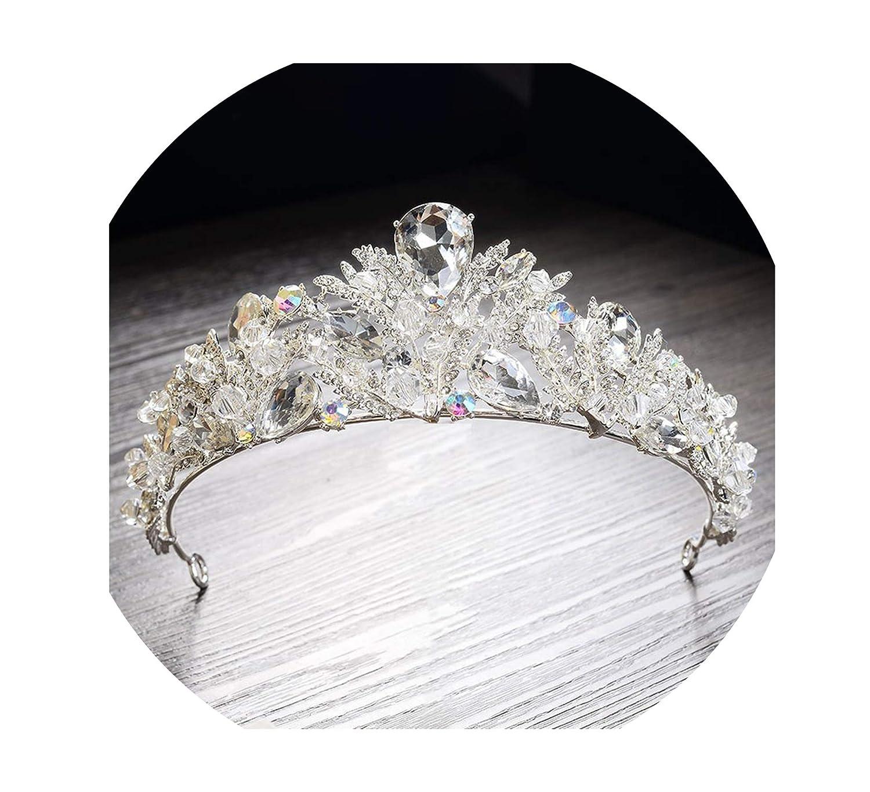 Luxury Bridal Crown Tiara Crown Tiara Diadem Princess Beauty Queen Crystal Ball Diamond Crown Headband Wedding Hair Accessories