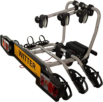 Witter Flange Towbar Mounted Cycle Carrier 3 Bike with Clamps