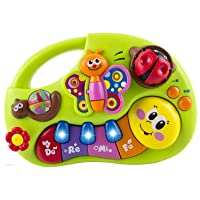 WolVol Toddler Toy Piano Keyboard Educational Infant Toy Activity Center, Music and Lights, Animal Sounds