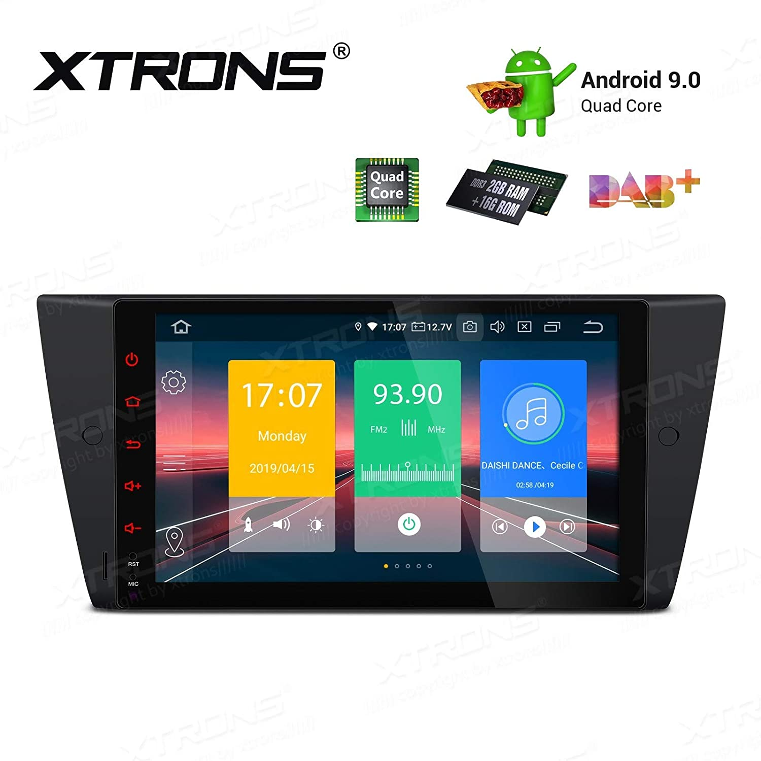 XTRONS 9 Autoradio mit Touch Screen Android 9.0 Quad Core Multimedia Player Autostereo unterst/ützt 4G WiFi Bluetooth Plug/&Play Design 2GB 16GB DAB /& OBD2 F/ÜR BMW E90 E91 E93