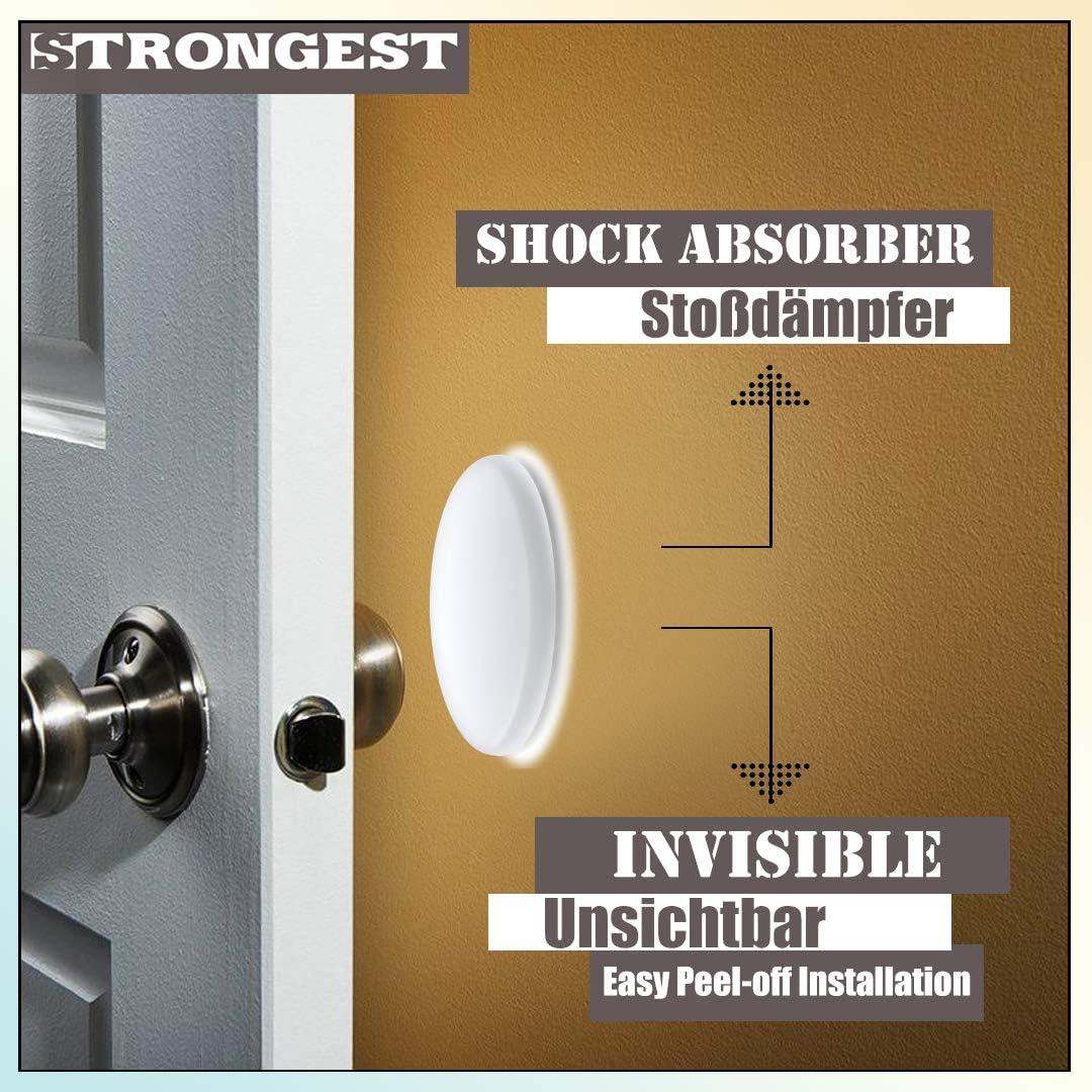 Lot de 6 poign/ées de porte en caoutchouc transparent Silencieux Silencieux Protection murale silencieuse pour poign/ée de porte Coussin rond Silencieux Silencieux Autocollant