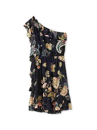 2da5ac18c81 LIU-JEANS Abito ts nav f19360/t2269u9165/nero cachemire/a9e Size 40  Spring/Summer at Amazon Women's Clothing store: