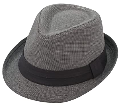 Amazon.com  Milani Fedora Hat with Grosgrain Ribbon Band  Clothing 83bc0d936d0