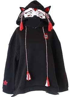 TS-128-2 Rot Geist Vampir Devil Teufelsh/örner Halloween Trick or Treat Pastel Goth Lolita Pullover Kapuzen-Sweatshirt Harajuku Kawaii