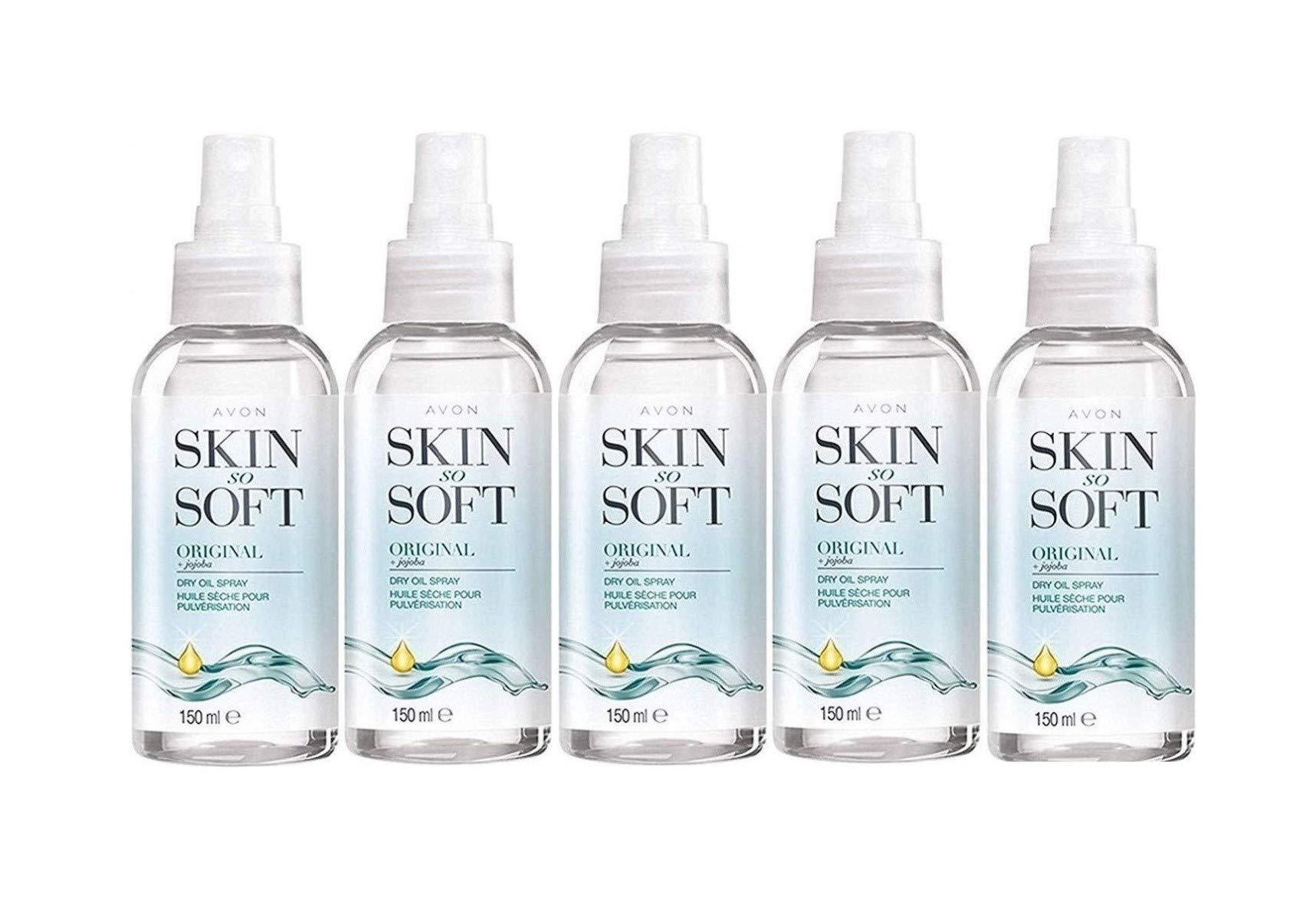 Avon Skin So Soft Original Dry Oil Body Spray 150 ml - Pack of 5