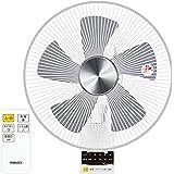 山善 DCモーター搭載 30cm壁掛扇風機 (静音モード搭載)(リモコン)(風量5段階) 入切タイマー付 ホワイト YWX-BGD301(W)