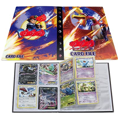 Card Album for Pokemon, Card Holder, Binder Cards Album Book Best Protection Trading Cards /GX EX Box/Put up to 240 Cards(Ho-Oh): Toys & Games