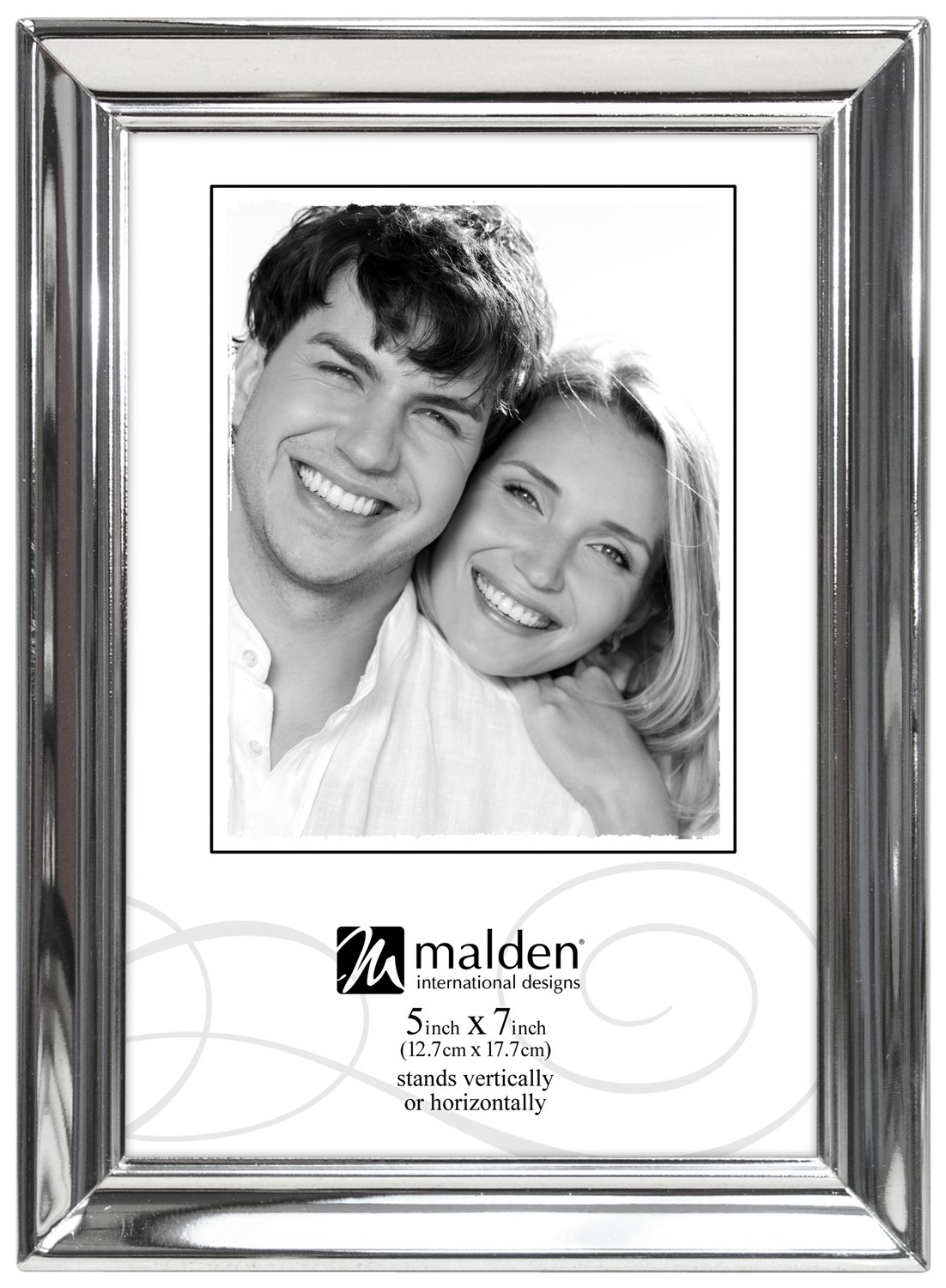 Amazon malden concourse silver metal frame holds 5 by 7 amazon malden concourse silver metal frame holds 5 by 7 inch picture professional art frame kits jeuxipadfo Image collections