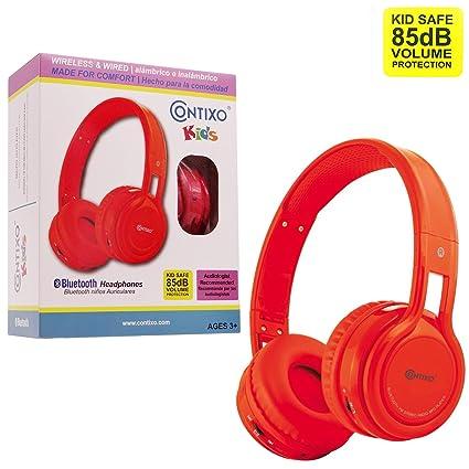 Contixo KB2600 Kid Safe 85db Foldable Wireless Bluetooth Headphone Built-in Microphone, Micro SD