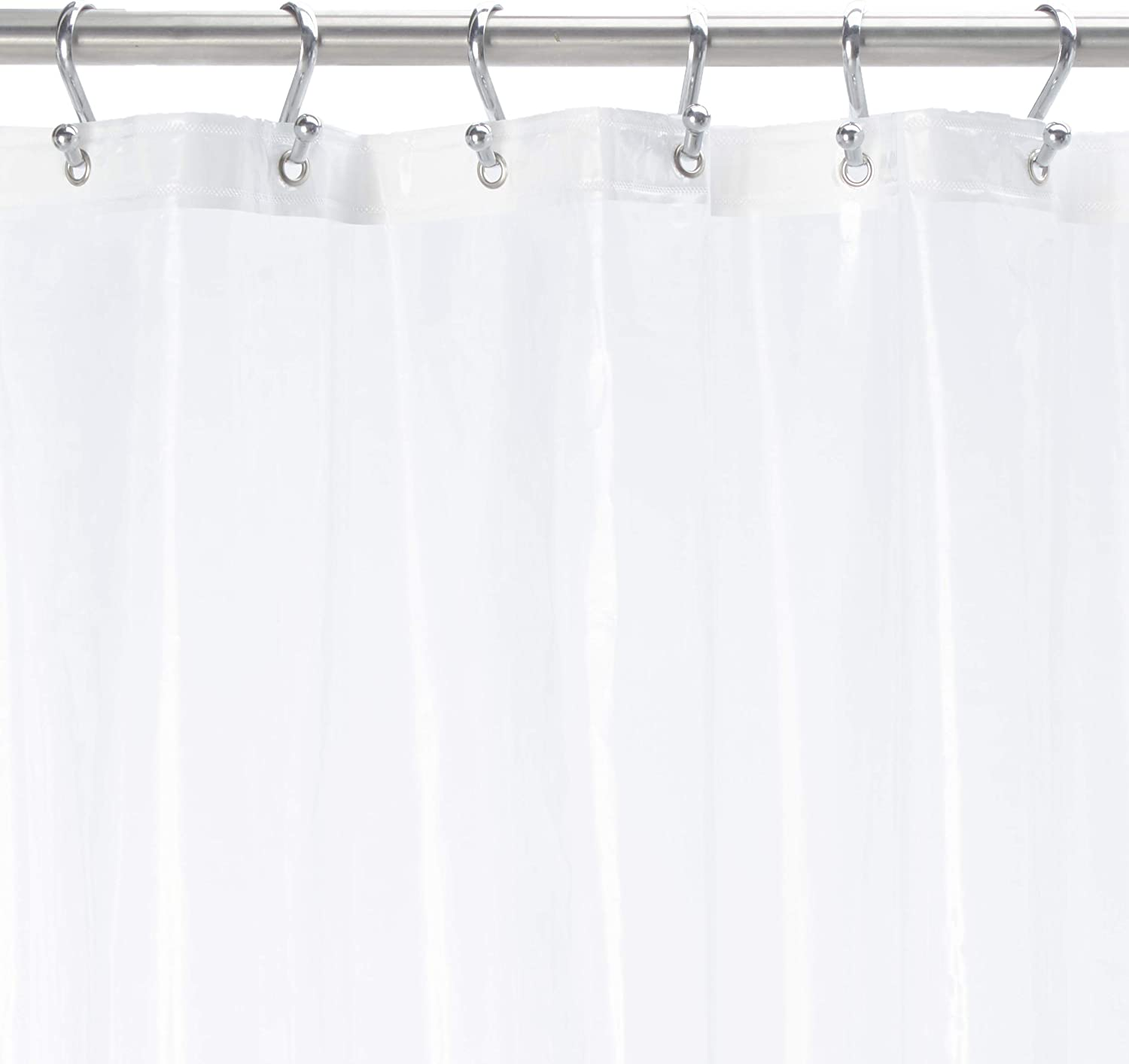 """Ben & Jonah Super Clear Extra Long and Heavy 10 Gauge PEVA Non-Toxic Shower Curtain Liner with Metal Grommets (72"""" x 84"""")"""