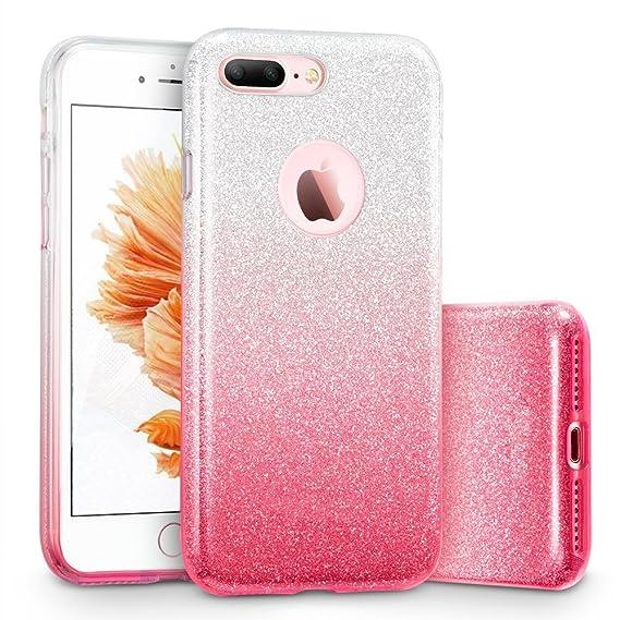 premium selection ceee1 c9eb3 iPhone 8 Plus/7 Plus Case, SIVA Bling Glitter Sparkle Pretty Cute Premium  Luxury Cover Love Heart Diamonds for Girls/Women for Apple 5.5