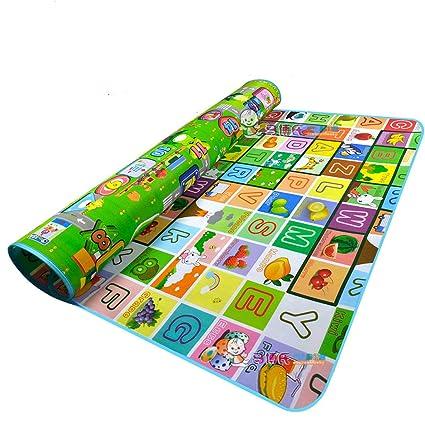 Colchoneta de espuma Garwarm para actividades de gateo y juego de los niños pequeños en interiores y exteriors-180*150*0.5CM