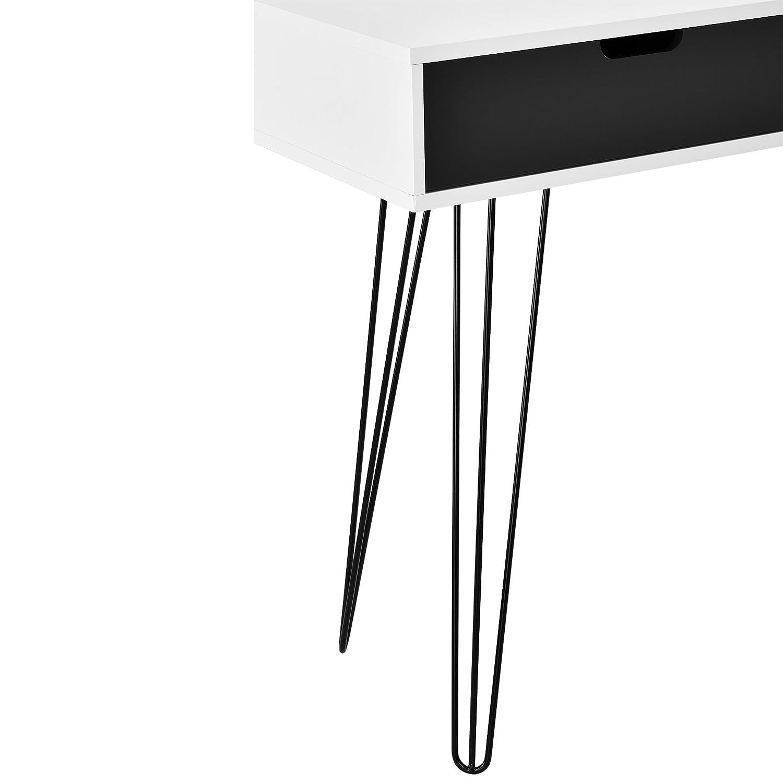 - 1x33x76cm bianco//grigio Design scrivania//tavolo console// Sideboard con cassetti en.casa