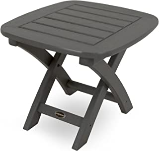 product image for POLYWOOD NSTGY Nautical Side Table, 21 by 18-Inch, Slate Grey