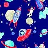 Arthouse 668000 Starship Wallpaper, Blue, 53 cm x 10.05 m
