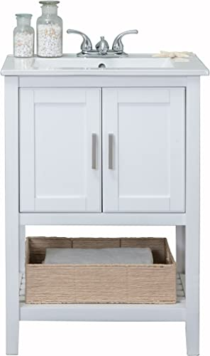 Legion Furniture WLF6020-W-BS Bathroom Vanity, 24 , White