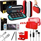 Orzly Switch Lite Accessories Bundle - Case & Screen Protector for Nintendo Switch Lite Console, USB Cable, Games Holder…