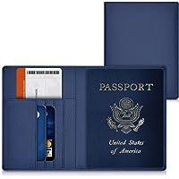 kwmobile Funda para pasaporte - Cubierta de cuero