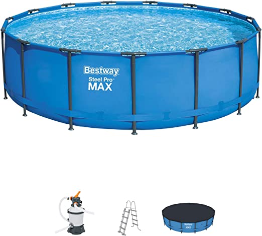 Bestway 56438SF - Piscina Desmontable Tubular Steel Pro 457x122 cm ...