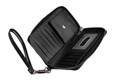 Cerbery® | Eleganter Geldbeutel aus Leder | Abendtasche Brieftasche Case Clutch Cover Damen Damenhandtasche Damentasche Etui