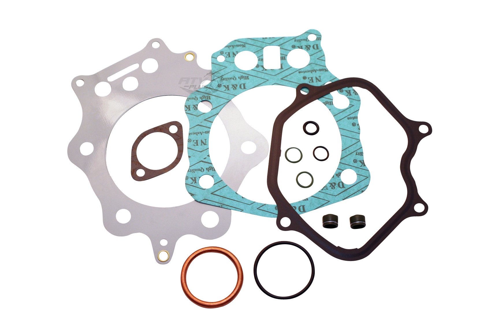 Premium ATV+ Brand Top End Gasket Kit with Multi-Layered Head gasket and Valve Seals FITS 1998-2004 Honda Foreman 450 S/ES