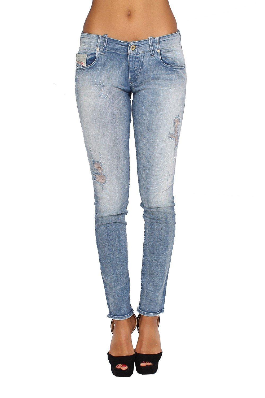 DIESEL - Women's Jeans GRUPEE 808G - Super Slim - Skinny - Stretch - blue, W27 / L32 by Diesel