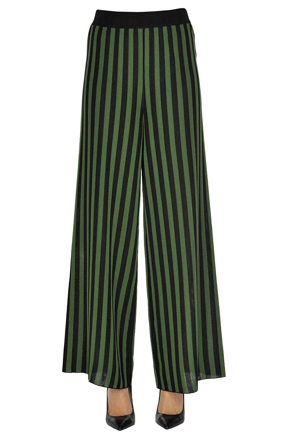 So.Be Women's MCGLPNP000005025E Green Viscose Pants