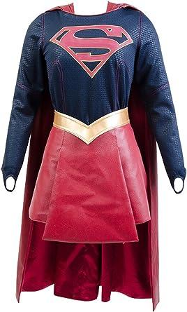 Supergirl kara Danvers Cosplay disfraz adulto traje vestido falda ...