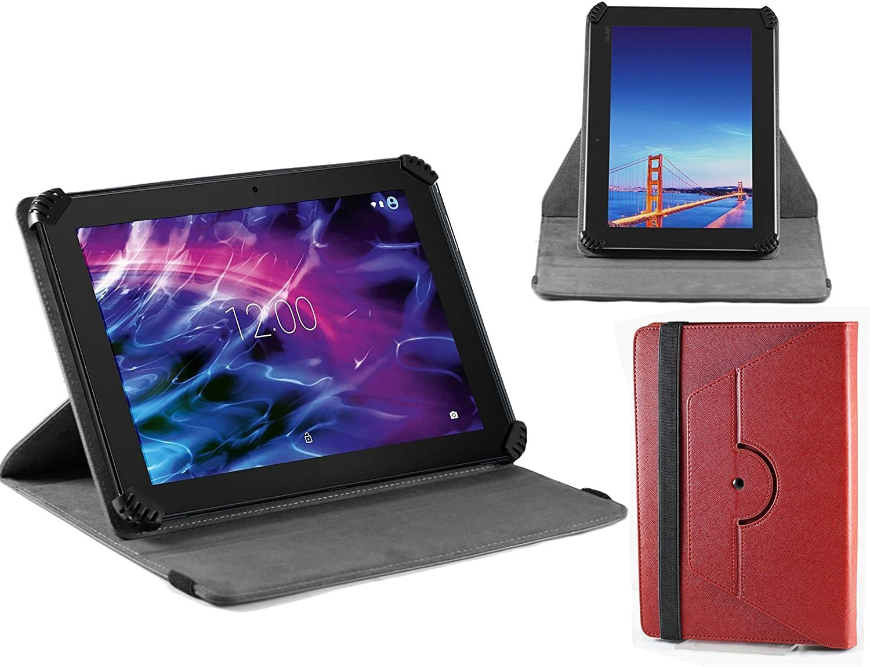 Navitech housse /étui folio rouge avec stylet compatible avec/BEISTA HD 10.1 Tablets Quad Core 3G Dual