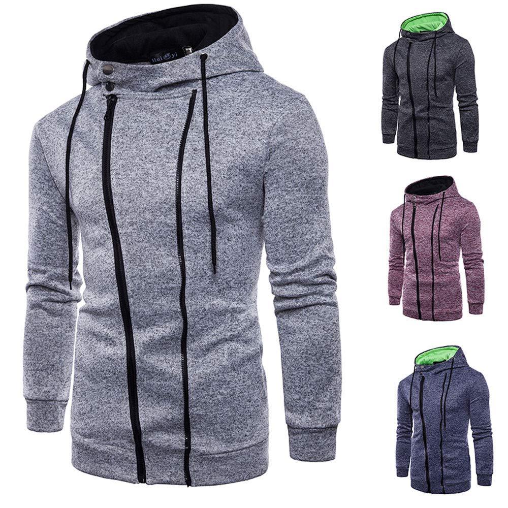 Amazon.com: Mens Hoodies, FORUU Long Sleeve Zipper Hooded Sweatshirt Top Tee Outwear Blouse: Clothing
