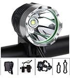 AUGYMER 自転車 ライト ヘッドライト 10000mah 充電式 高輝度 LED 防水 強・弱・フラッシュモード 一年保証