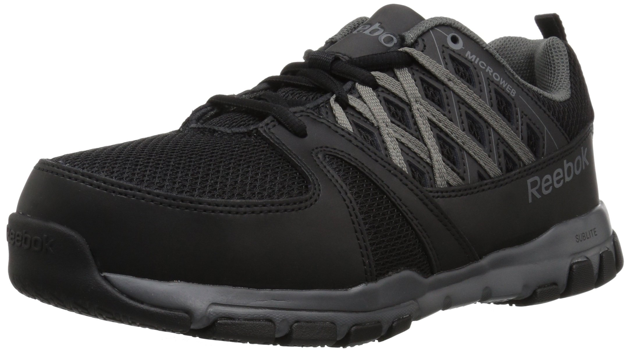 1118dea2c7232c Reebok Men s Sublite Work Rb4016 Oxford Black Grey 7.5 W US