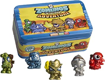 Zomling Adventure Tin - 5 Figures & Tin, Series 1 by Zomlings: Amazon.es: Juguetes y juegos