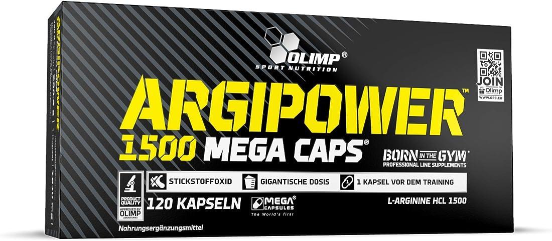 Arginina in capsule - integratore - olimp sport nutrition argi power mega caps, 120 capsule OLI1001/303/1501