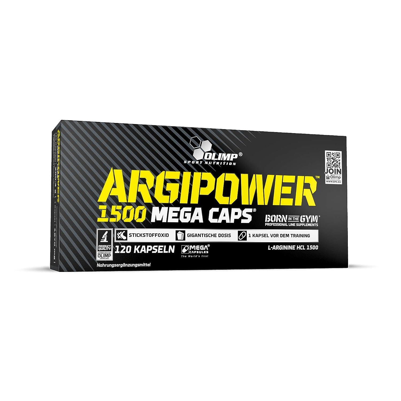 Olimp ArgiPower 1500 Mega Caps 120 Kapseln: Amazon.de: Drogerie ...