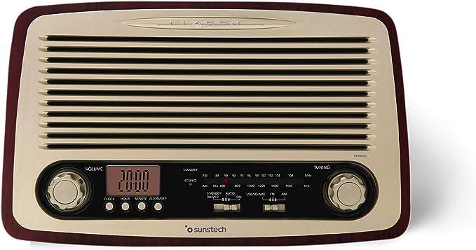 Sunstech RPR4000, Radio de Sobremesa, Madera: Sunstech: Amazon.es: Electrónica