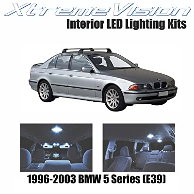 XtremeVision LED for BMW 5 Series (E39) 1996-2003 (11 Pieces) Cool White Premium Interior LED Kit Package + Installation Tool: Automotive