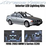 XtremeVision BMW 5 Series (E39) 1996-2003 (11 Pieces) Cool White Premium Interior LED Kit Package + Installation Tool
