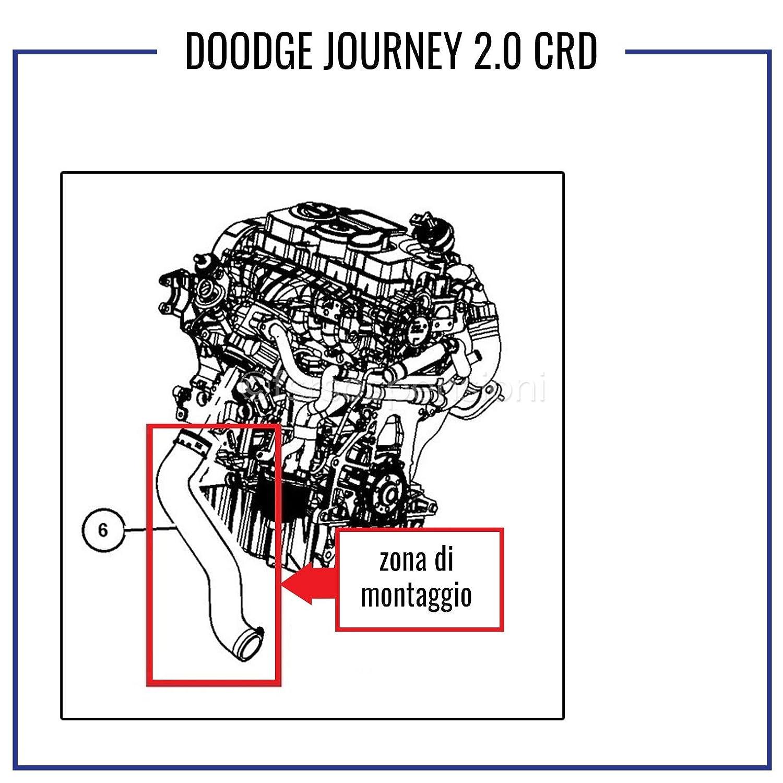 D O D G E JOURNEY 2.0 CRD MANICOTTO INTERCOOLER TUBO TURBO ARIA 04891862AB