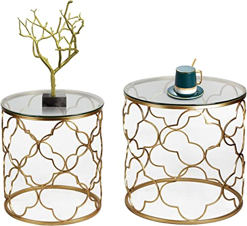 Joveco Gold End Table