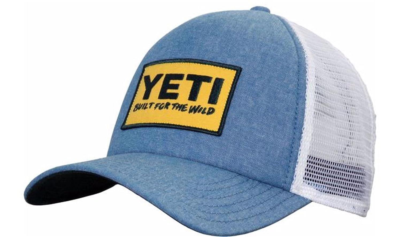 22f7ae324fb31 YETI Deep Fit Foam Patch Trucker Hat Chambray  Amazon.com.au  Sports ...