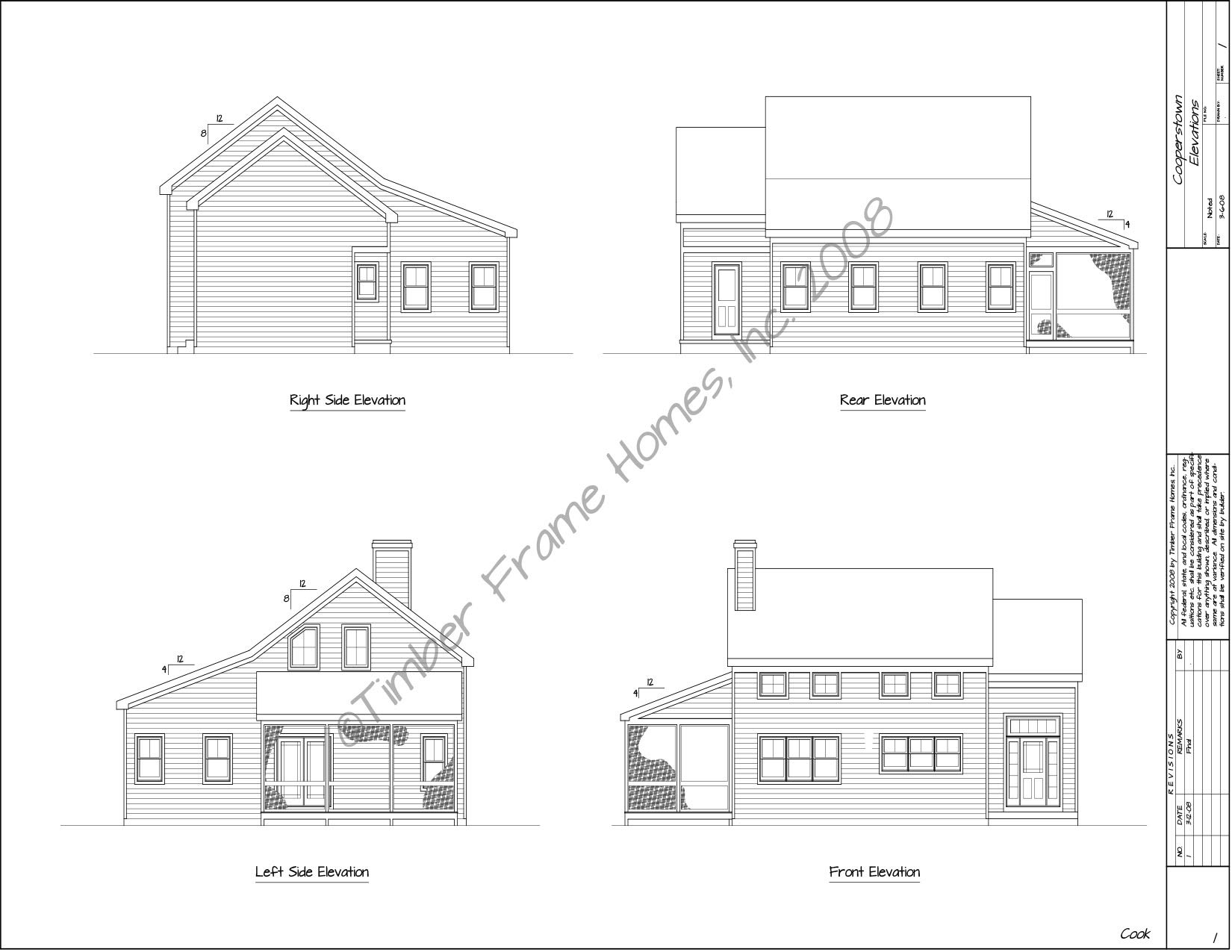 Home Plans - The Cooperstown Timber Frame (DESIGN PROOF) by TimberStead
