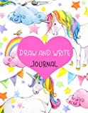 """Draw And Write Journal: Primary Journal Notebooks Grades K-2 With Picture Space Half Lined (1"""" Wide)(Primary Notebooks)(V18)"""
