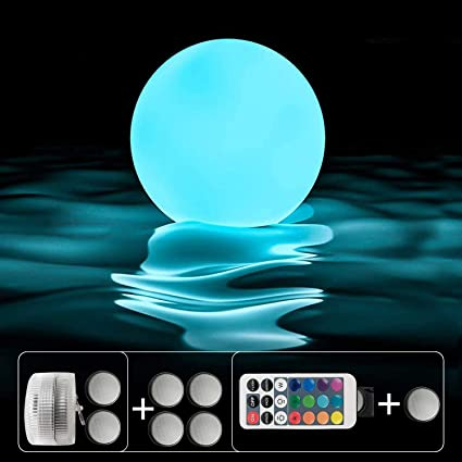 Floating Swimming Pool LED Light Growing Ball 13 Color Changing Remote Control