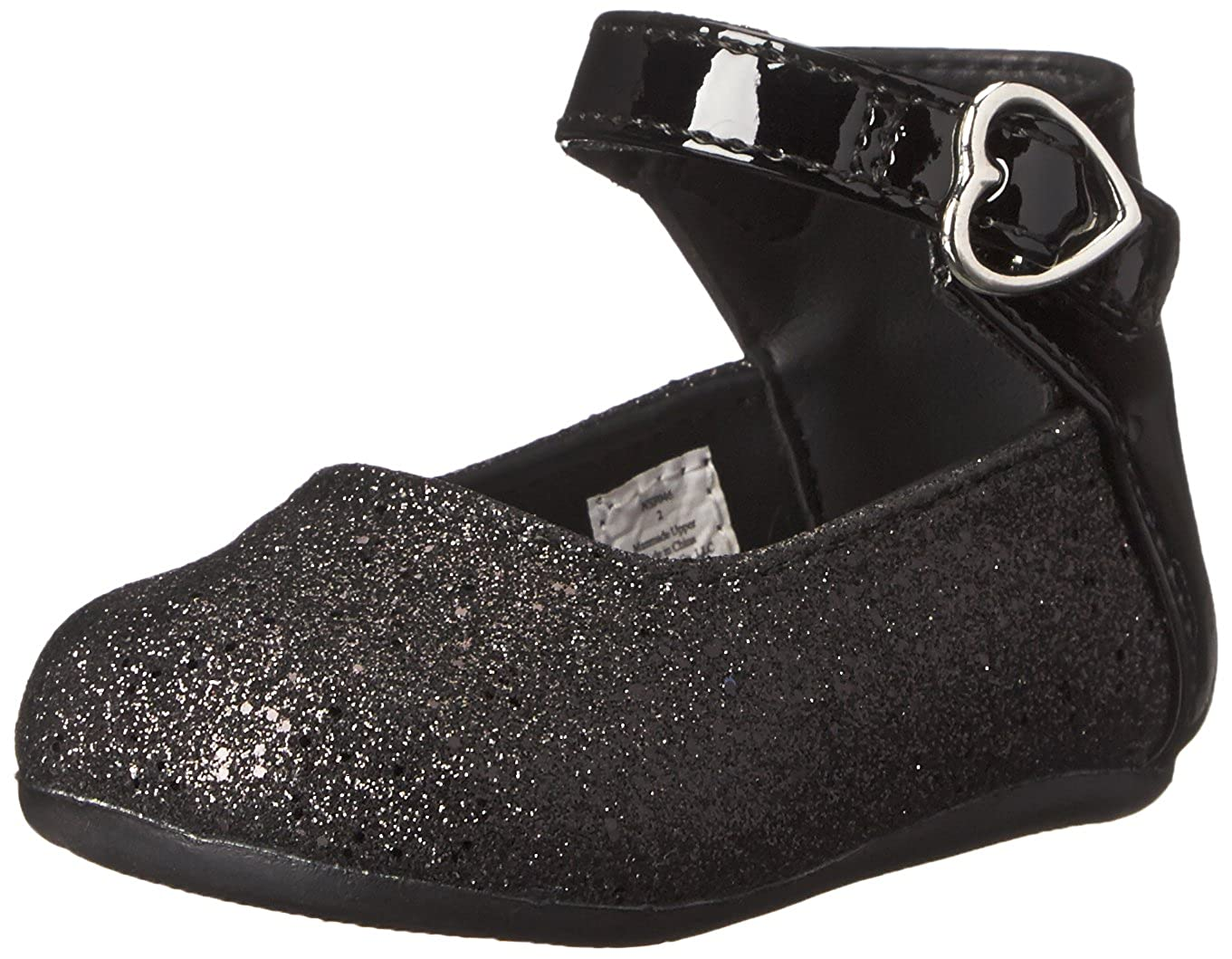 Natural Steps Rain Glitter Flat (Infant/Toddler/Little Kid) Black Glitter 2 M US Infant RAIN - K