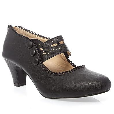 ed051c12a9d Womens 36-MINA4 Closed Toe Mary Jane High Heel Shoes