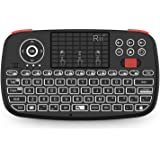 (2019 Upgrade) Rii i4 Mini Bluetooth Keyboard with Touchpad, Blacklit Portable Wireless Keyboard with 2.4G USB Dongle…